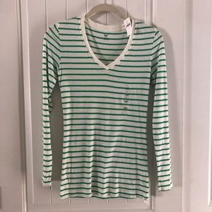 Gap Green&White SuperSoft LongSleeve